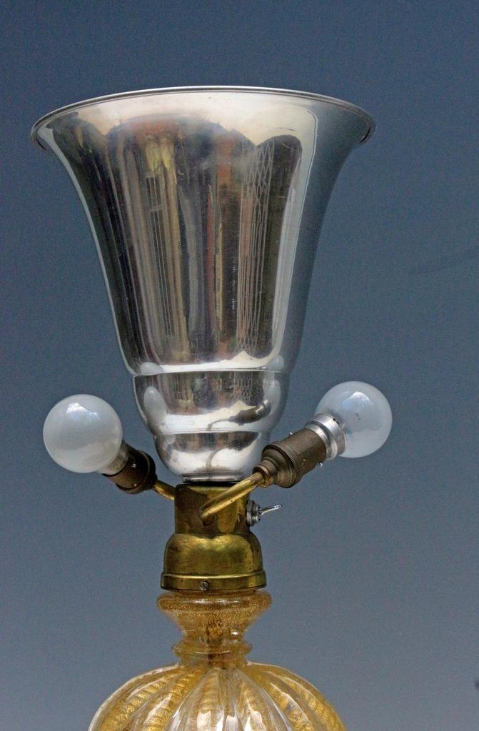 TOSO et BAROVIER grande lampe Murano 1940-50-photo-3