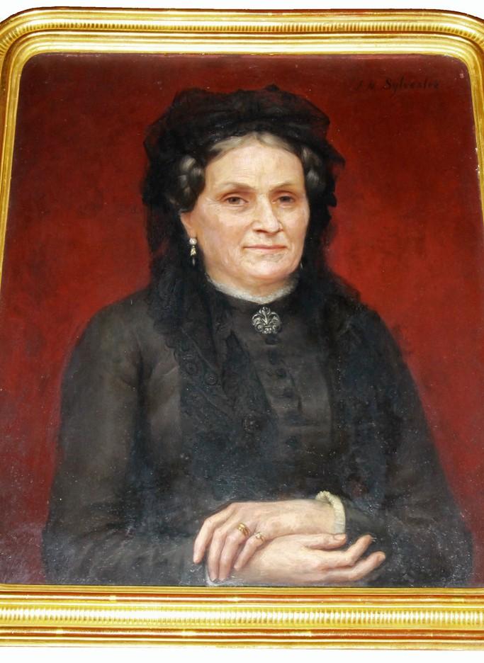 Joseph-Noel SYLVESTRE XIXe portrait de Mme A...
