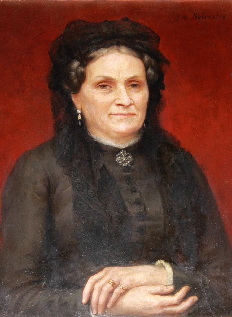Joseph-Noel SYLVESTRE XIXe portrait de Mme A...-photo-2