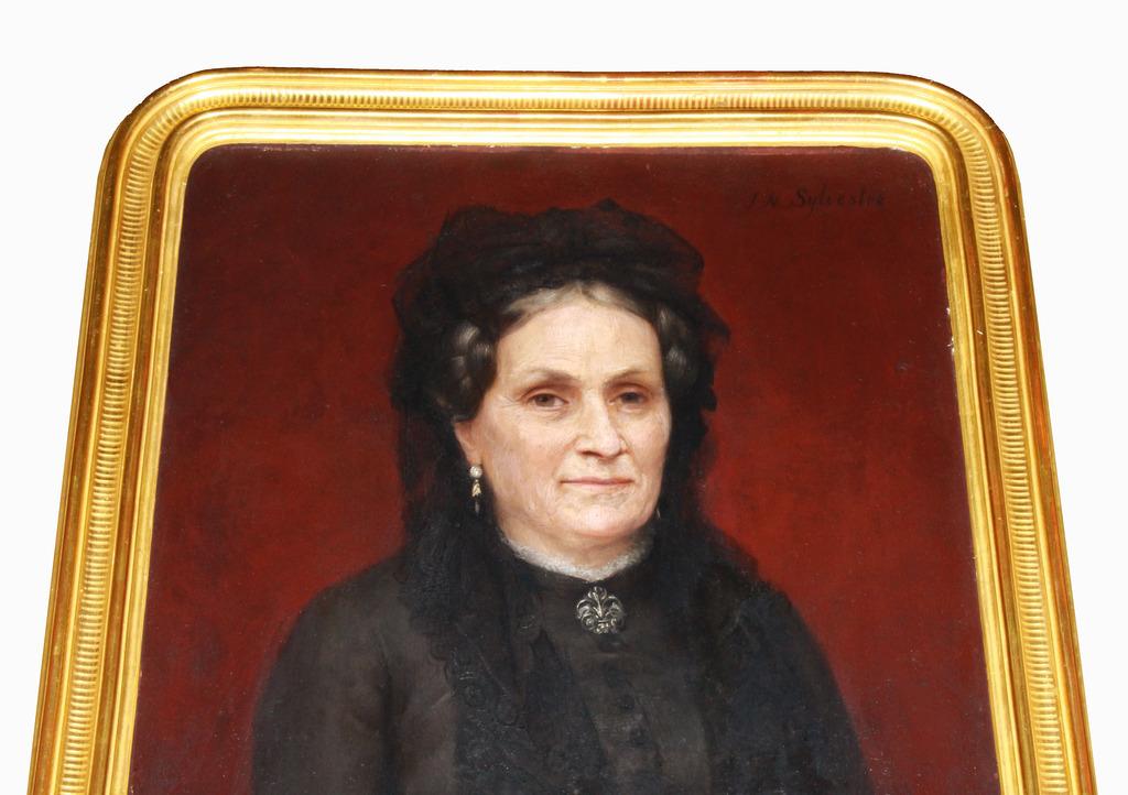 Joseph-Noel SYLVESTRE XIXe portrait de Mme A...-photo-3