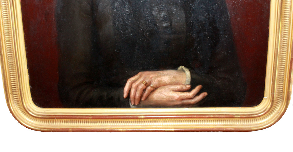 Joseph-Noel SYLVESTRE XIXe portrait de Mme A...-photo-4