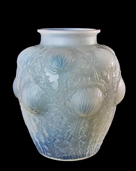 R. Lalique Vase Art Déco Opalescent