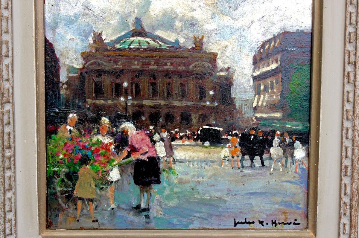 Jules R. Herve (1887-1981) Paris Opera Square-photo-3