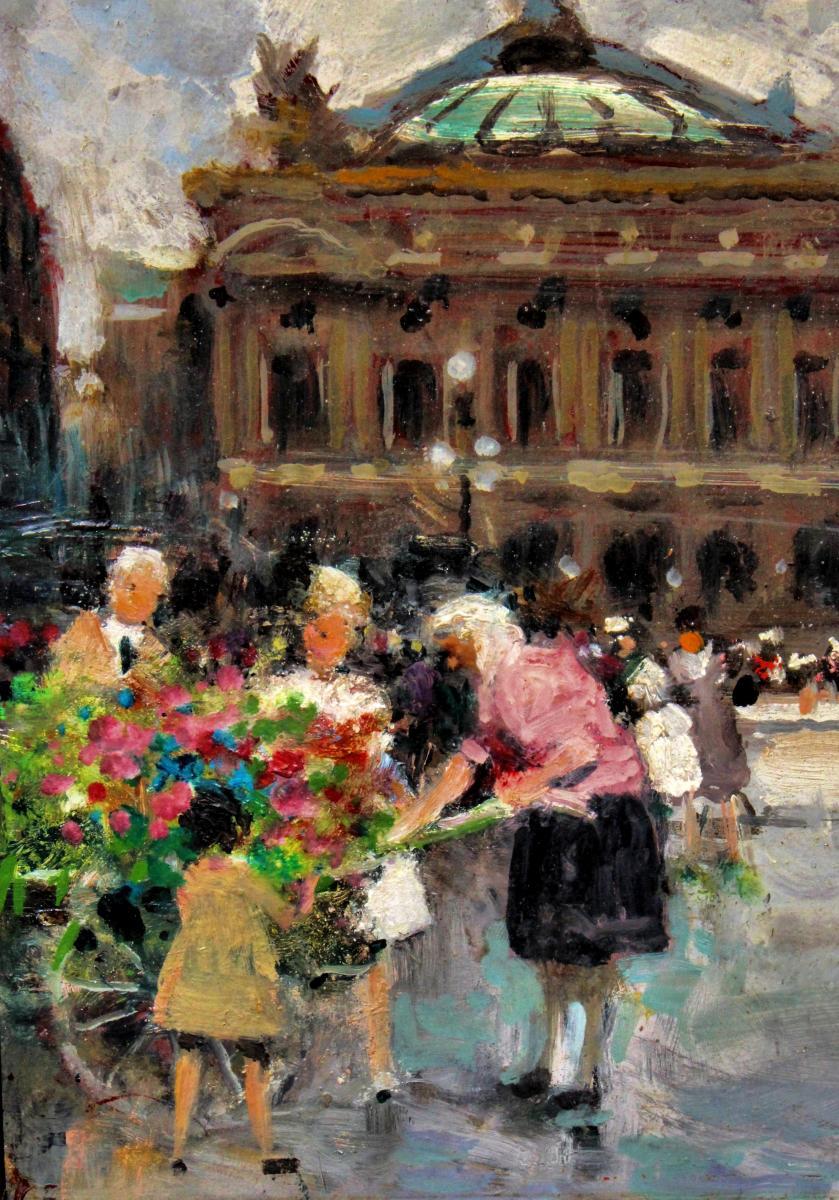Jules R. Herve (1887-1981) Paris Opera Square-photo-4