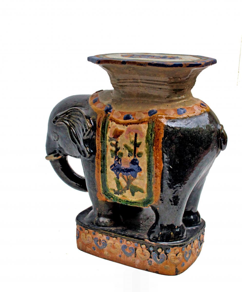 Elephant Ceramic Garden Stool From China - decoration objects