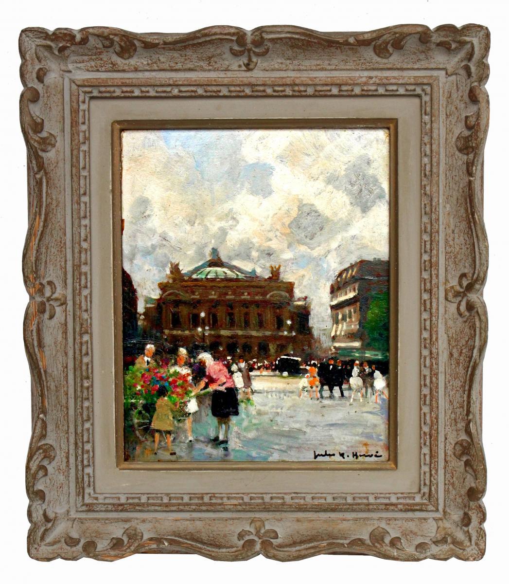 Jules René Hervé (1887-1981) Paris devant l'Opéra