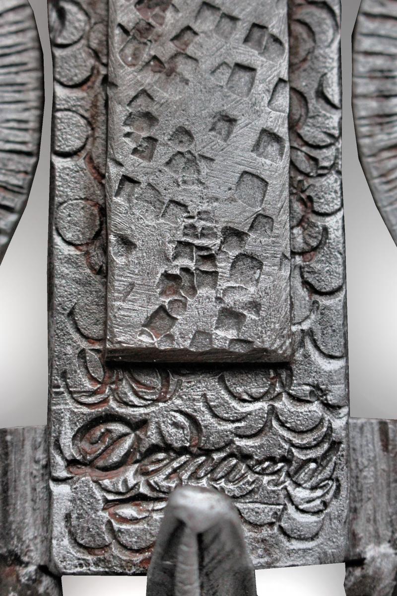 Elégante Console Art Déco signée DENANT-photo-3