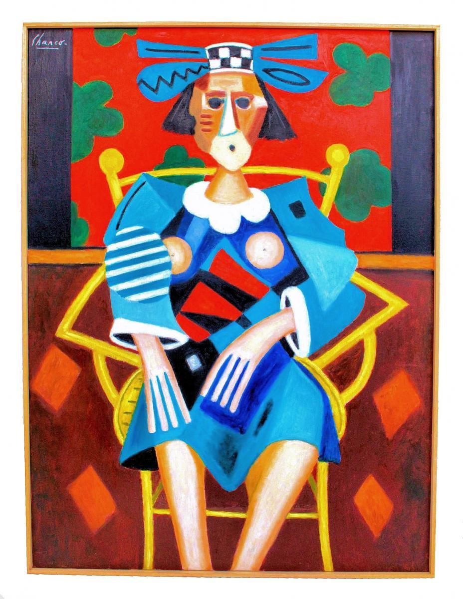 "Roland Chanco (1914-2017) Important Tableau ""Maryline"""