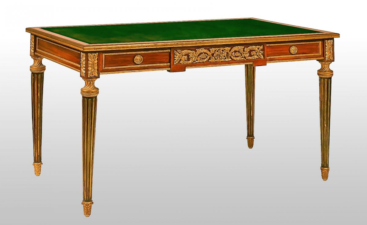 Louis XVI Desk Stamped Paul Sormani