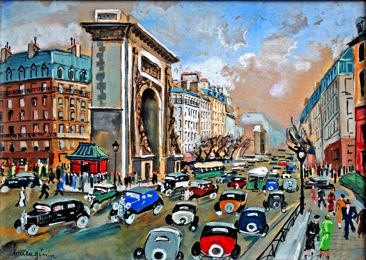Lucien Genin (1894-1953) Paris The Porte St.martin