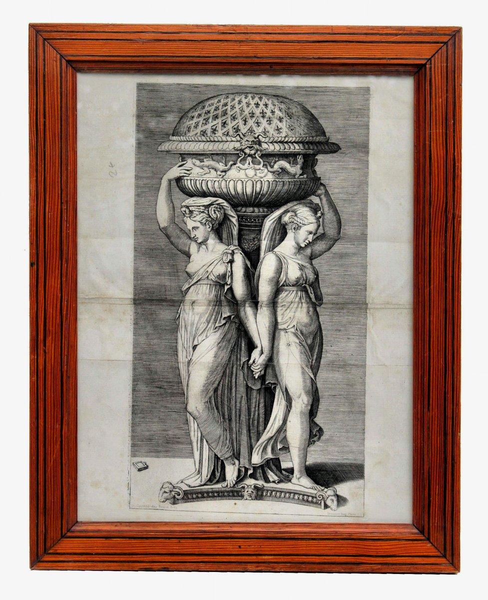 Nineteenth Engraving After Marcantonio Raimondi