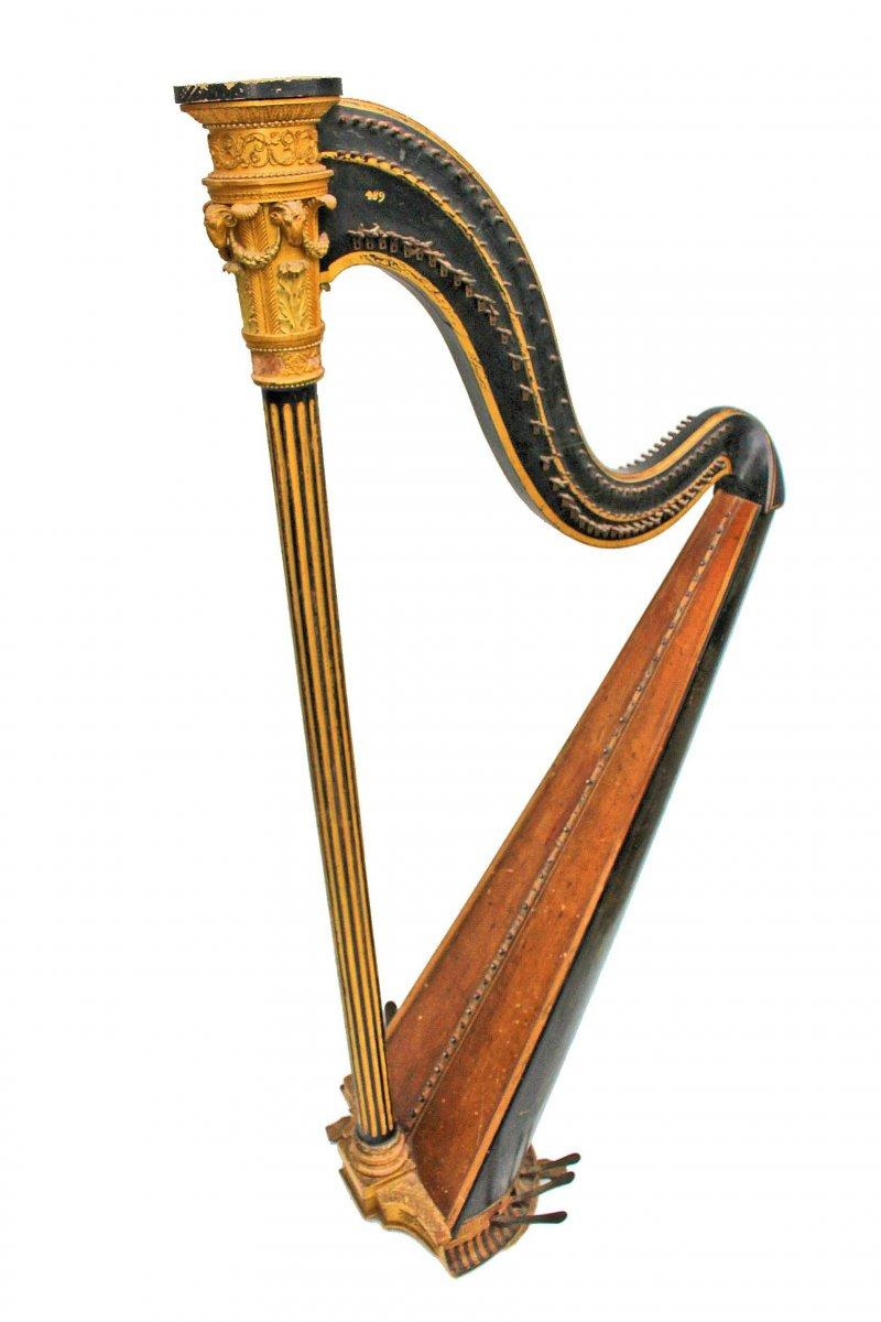 Harpe XVIIIe Estampillée Cousineau à Paris