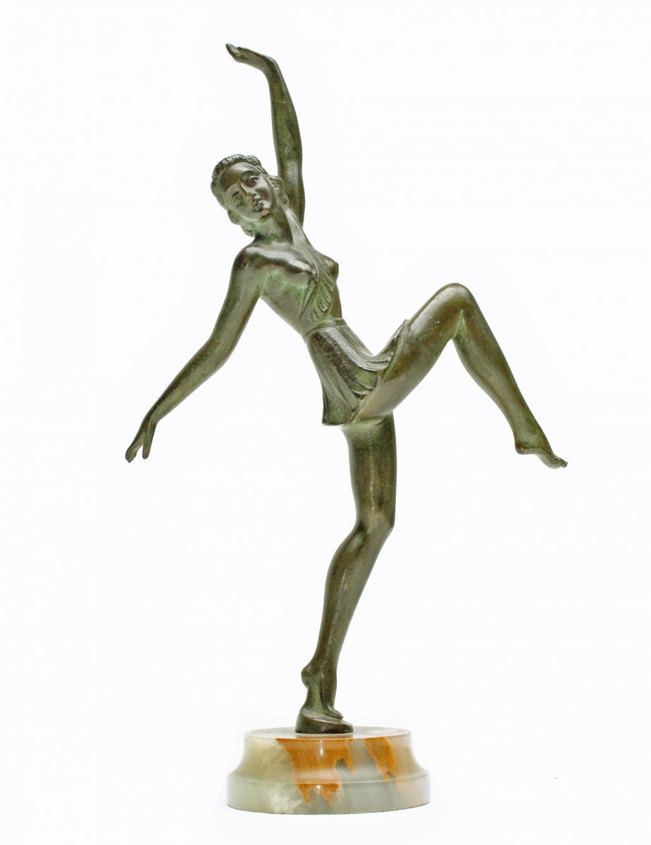 Danseuse Art Déco En Bronze