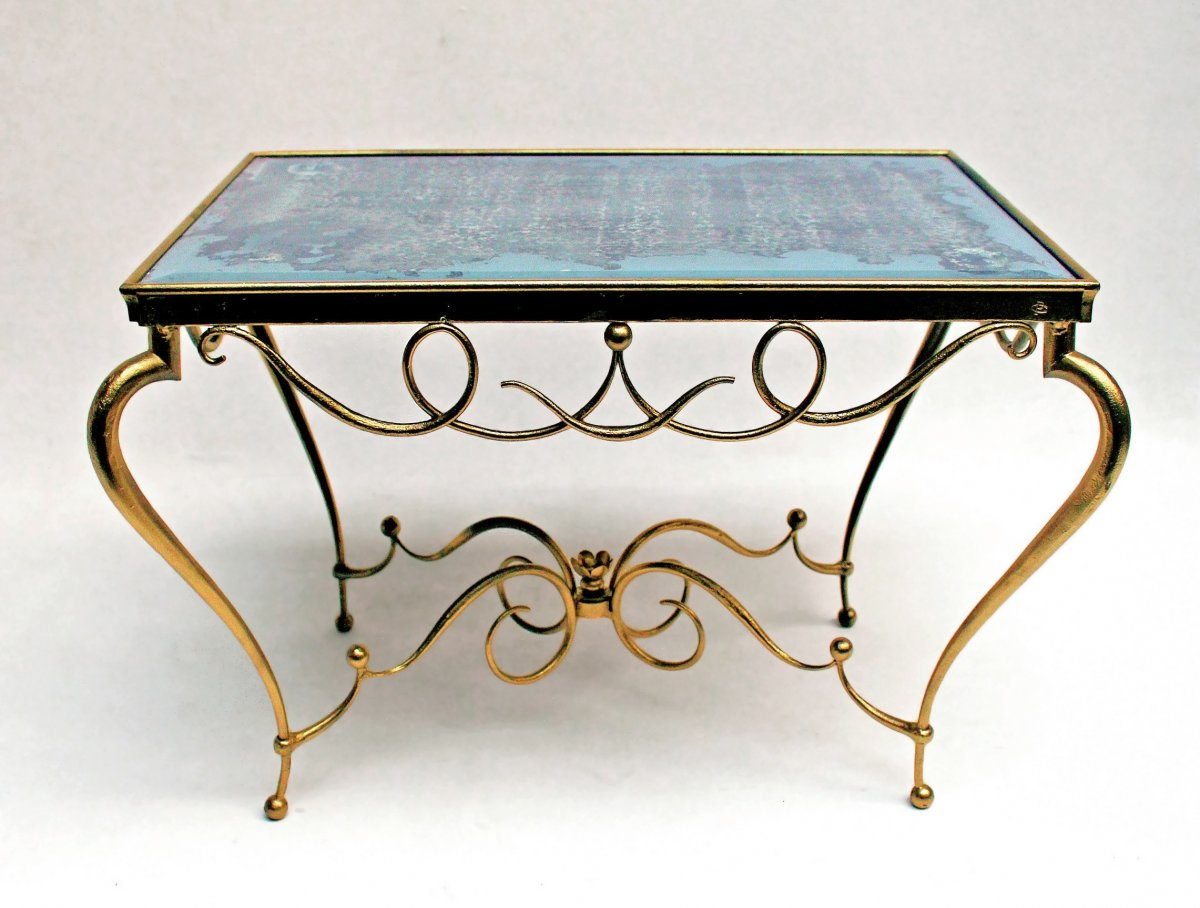 Charles Piguet (1887-1942) Art Deco Wrought Iron Table