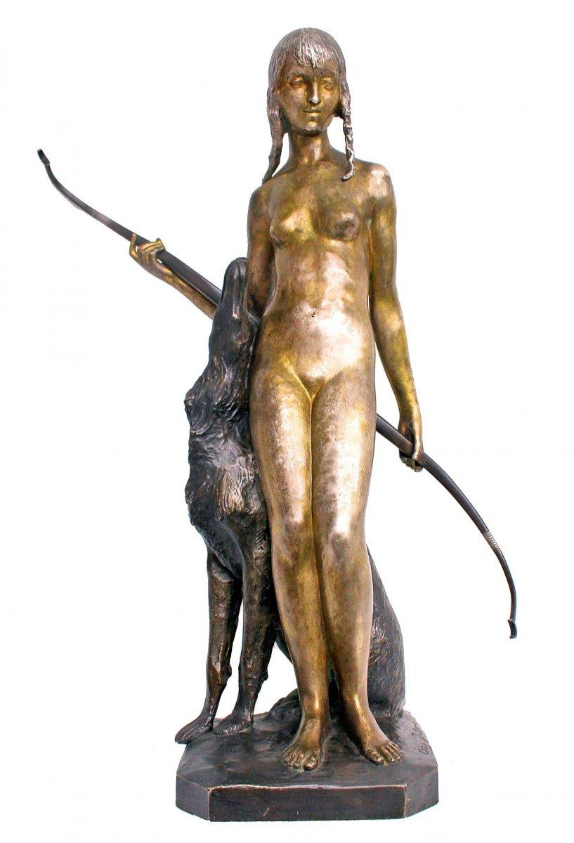 Ary Bitter (1883-1973) Large Bronze Art Deco
