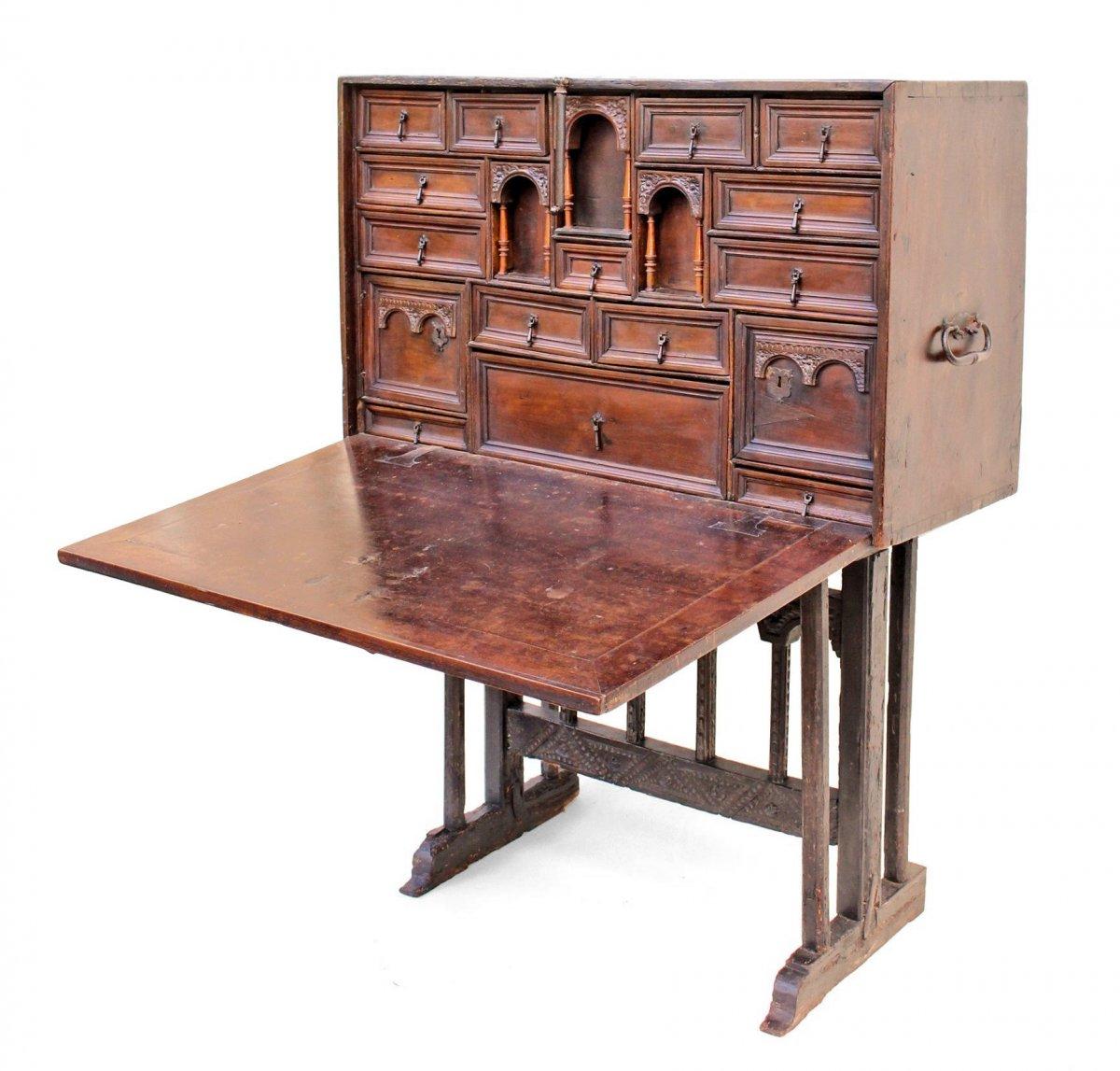"17th Century ""bargueno"" Travel Cabinet"
