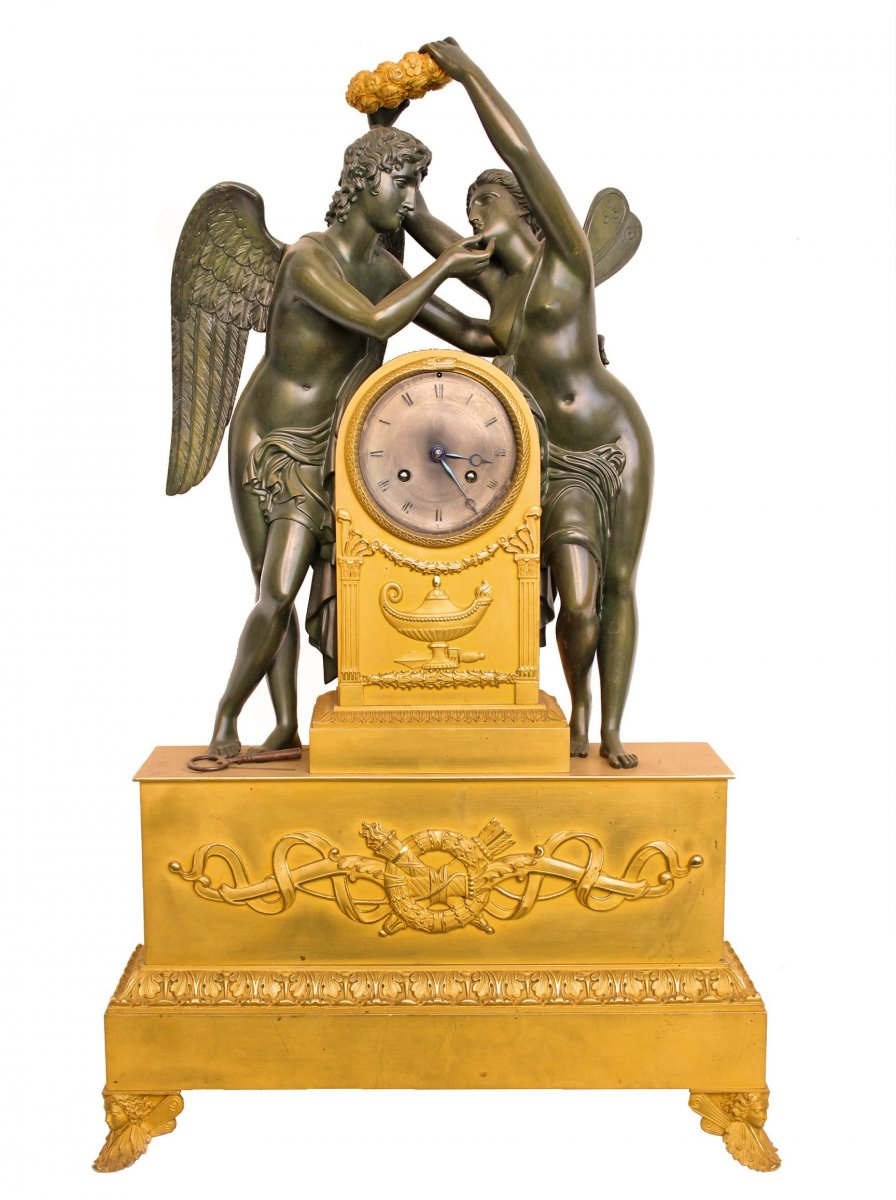 Large Pendulum 1st Empire Psyche Crowning Love