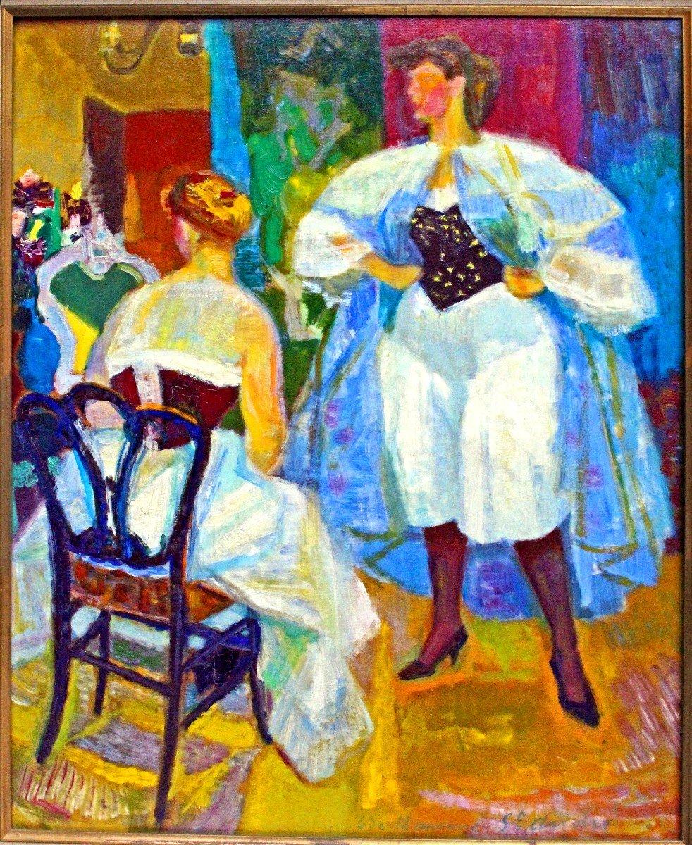 Louis BerthommÉ-saint-andrÉ (1905-1977) Women In Corselet-photo-7