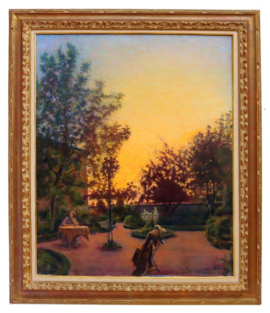 Cosson (1897-1976) Élégante dans le Parc-photo-2