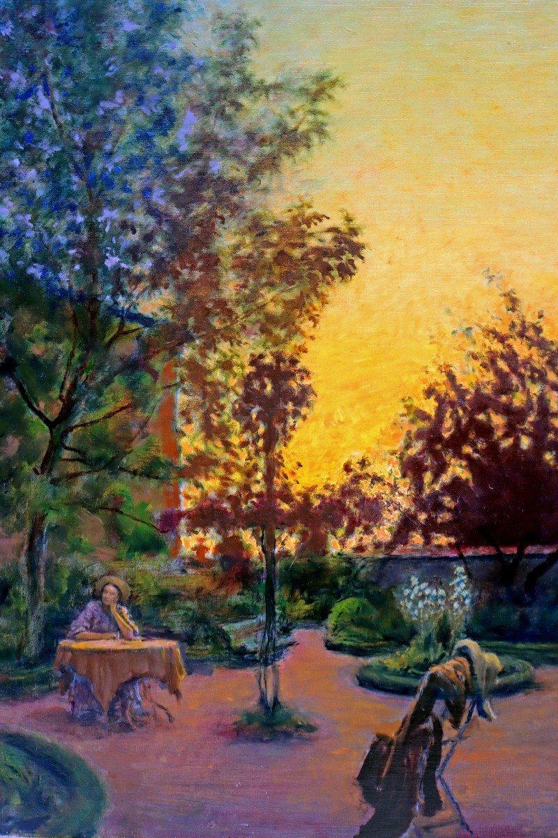Cosson (1897-1976) Élégante dans le Parc-photo-3