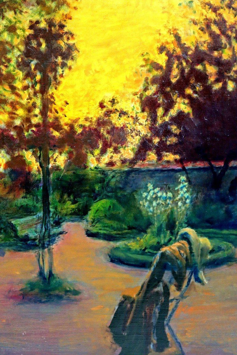 Cosson (1897-1976) Élégante dans le Parc-photo-4