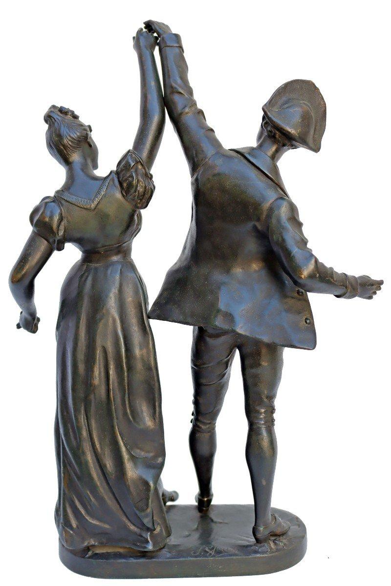 -Le Menuet- Bronze d'époque Art Nouveau 1900 Signé P.jean-photo-4