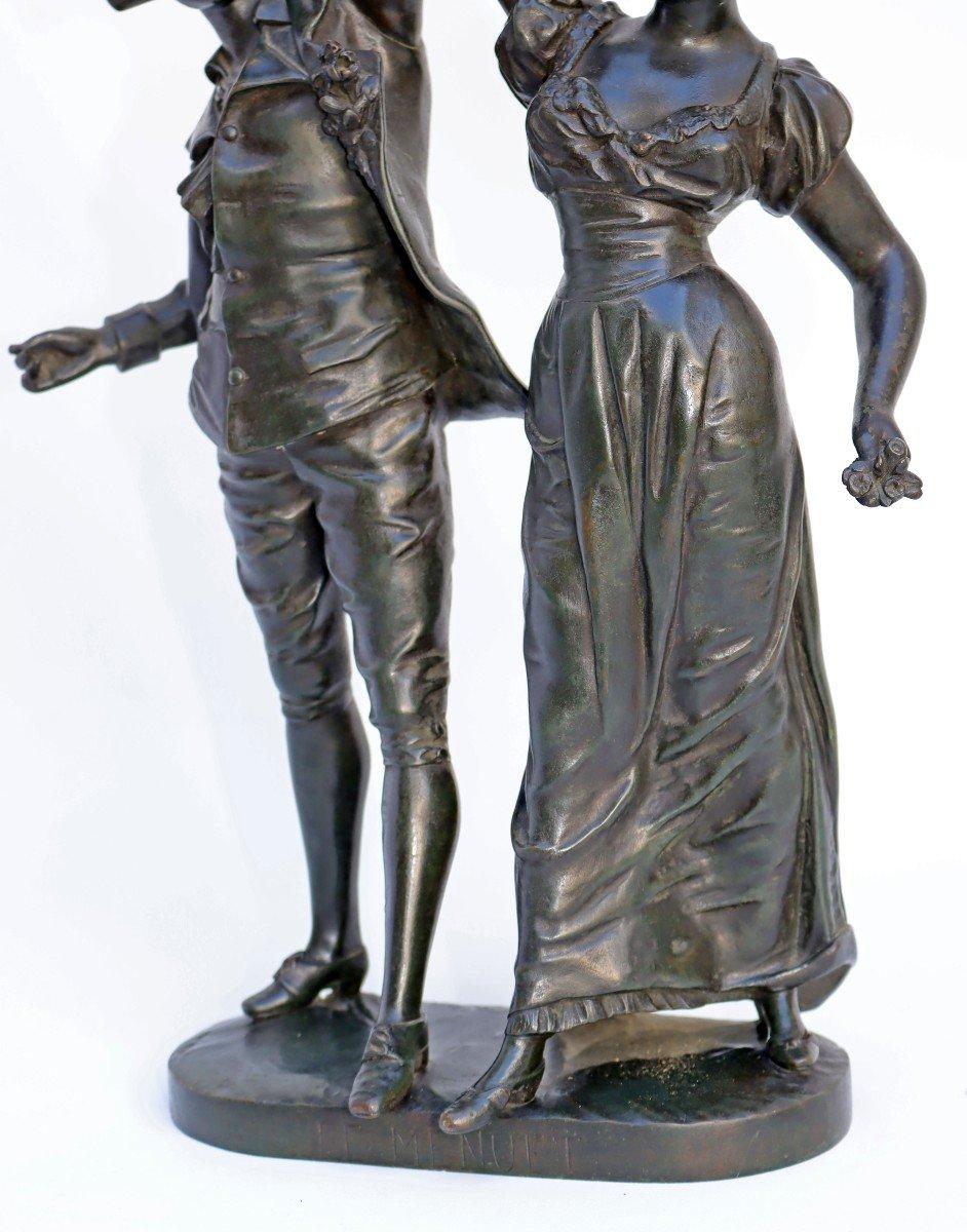 -Le Menuet- Bronze d'époque Art Nouveau 1900 Signé P.jean-photo-5