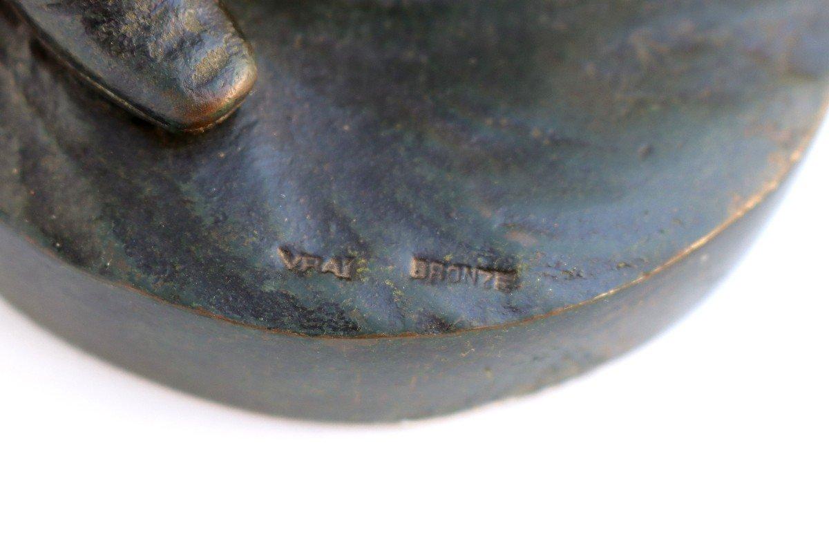 -Le Menuet- Bronze d'époque Art Nouveau 1900 Signé P.jean-photo-6
