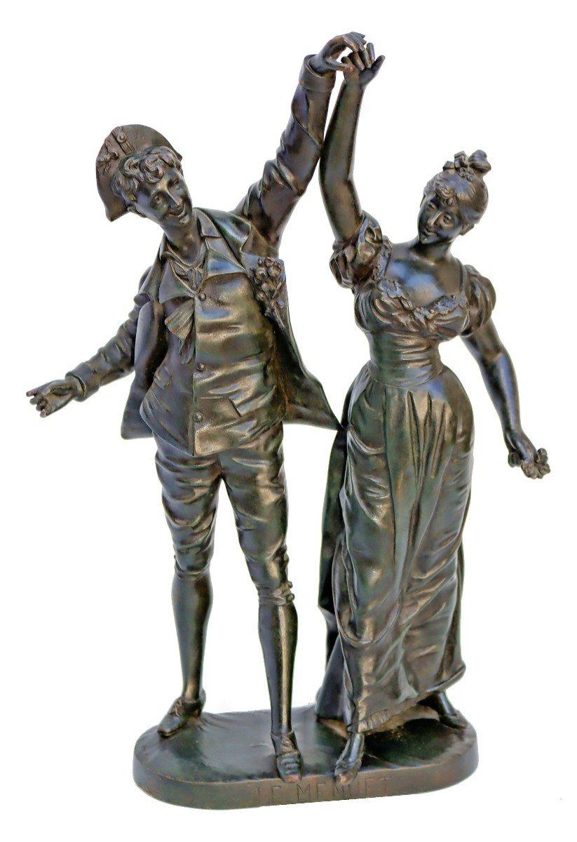 -Le Menuet- Bronze d'époque Art Nouveau 1900 Signé P.jean-photo-8
