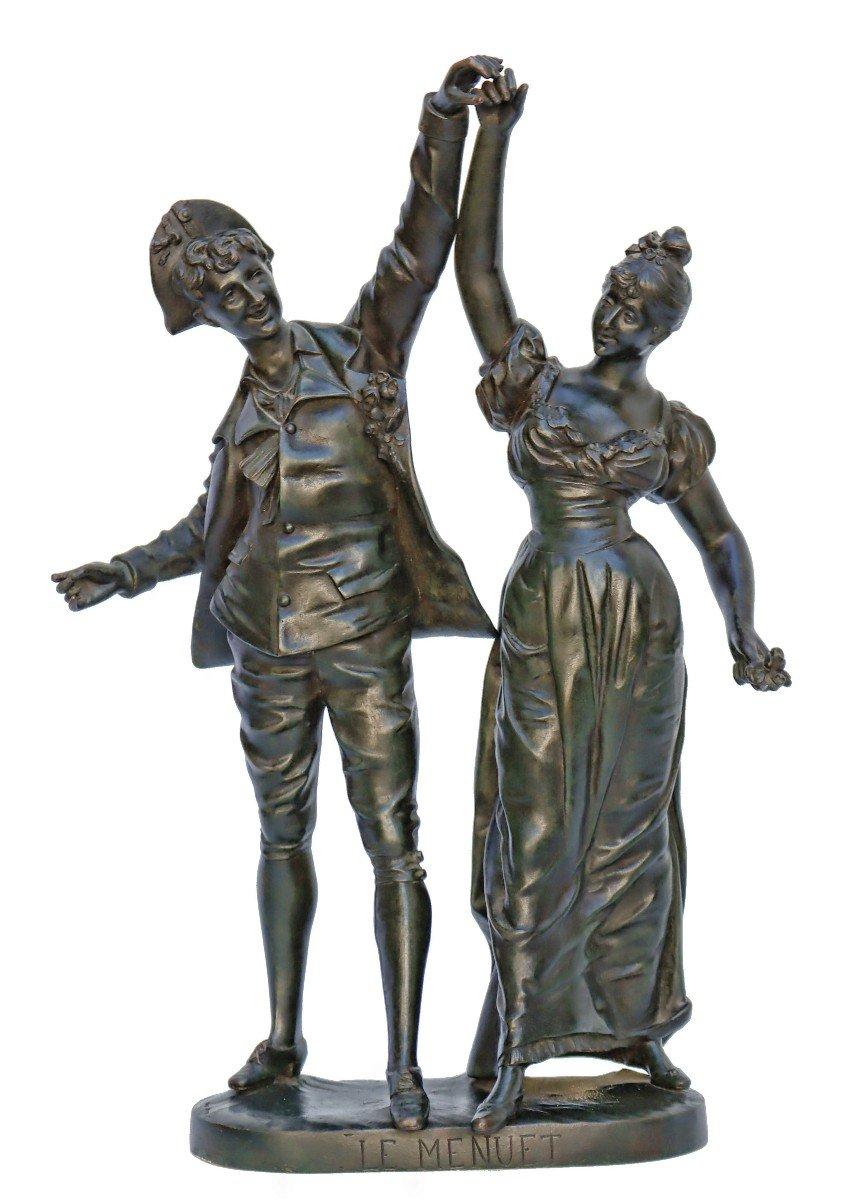 -Le Menuet- Bronze d'époque Art Nouveau 1900 Signé P.jean