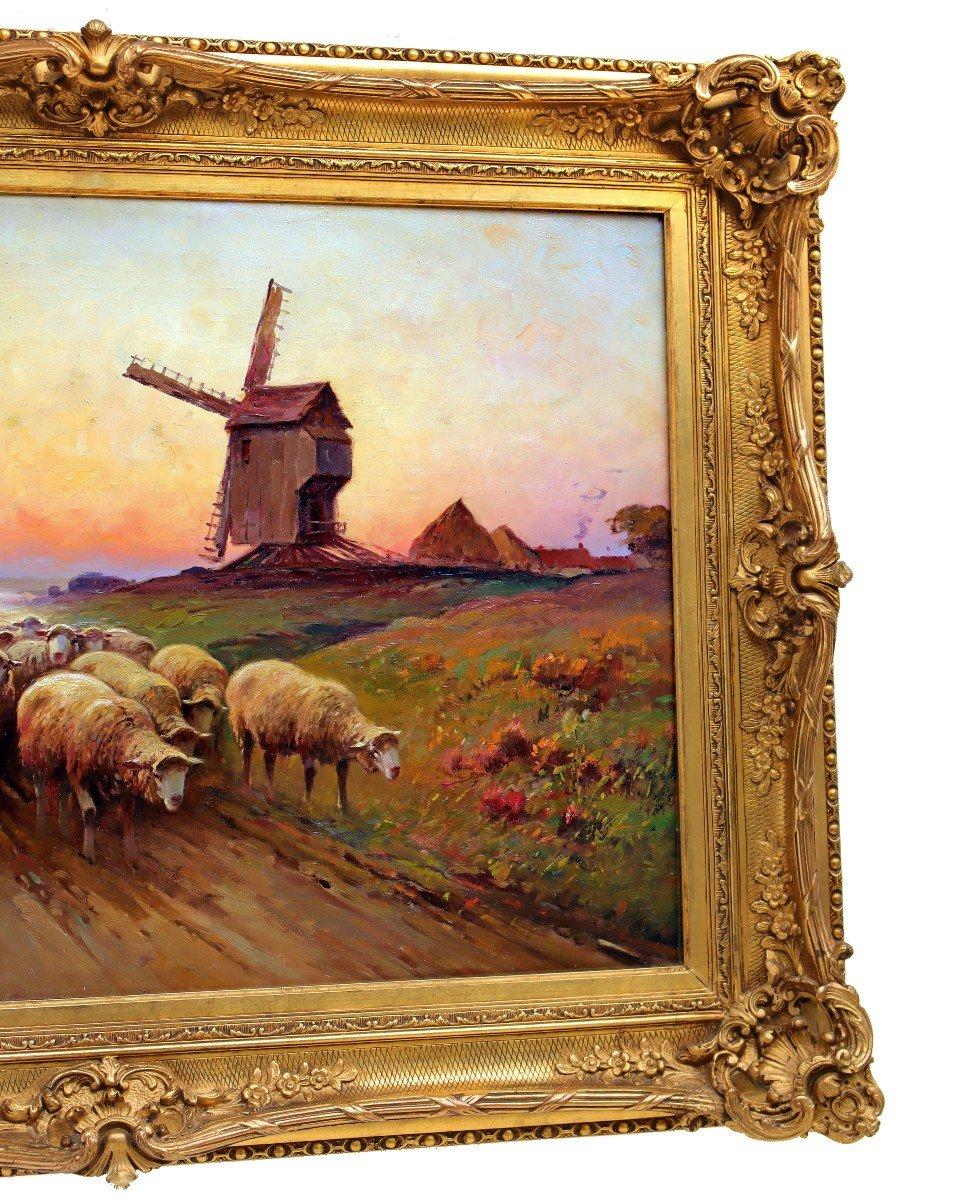 Barbizon XIXe Trés Grand Tableau Signé Derians-photo-2