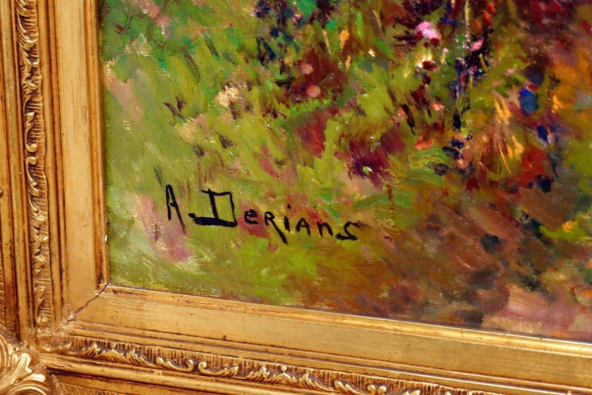 Barbizon XIXe Trés Grand Tableau Signé Derians-photo-5