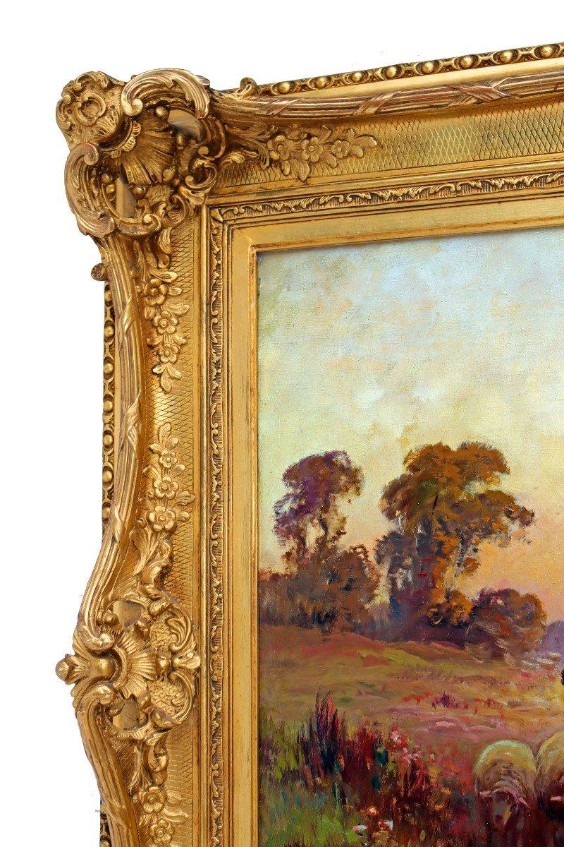 Barbizon XIXe Trés Grand Tableau Signé Derians-photo-6