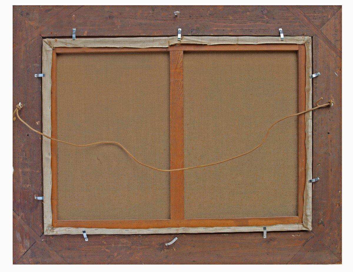 Barbizon XIXe Trés Grand Tableau Signé Derians-photo-8