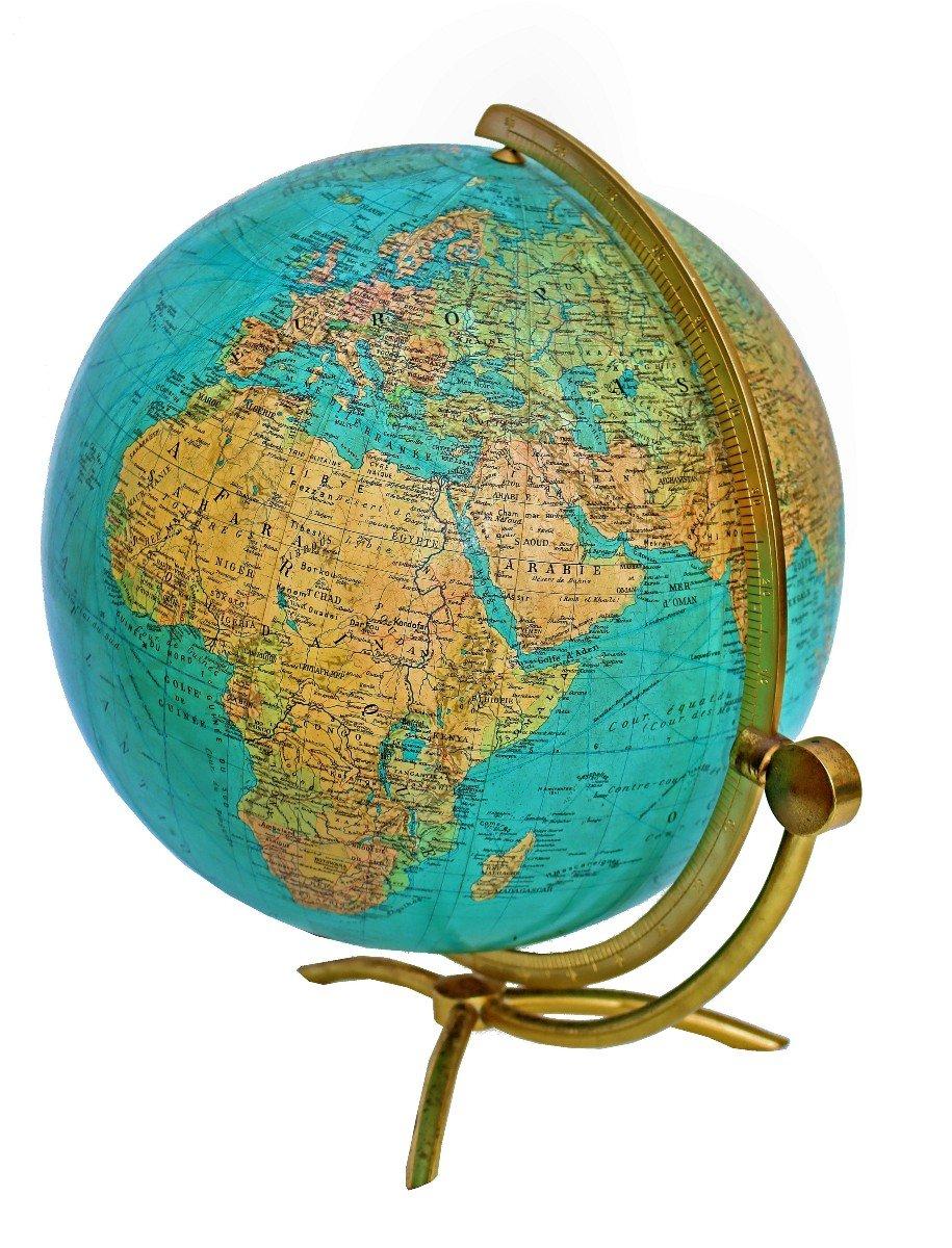Paul Oestergaard Globe Terrestre Mappemonde En Verre Lumineux-photo-3