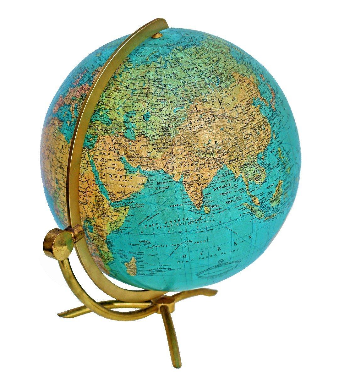Paul Oestergaard Globe Terrestre Mappemonde En Verre Lumineux-photo-4