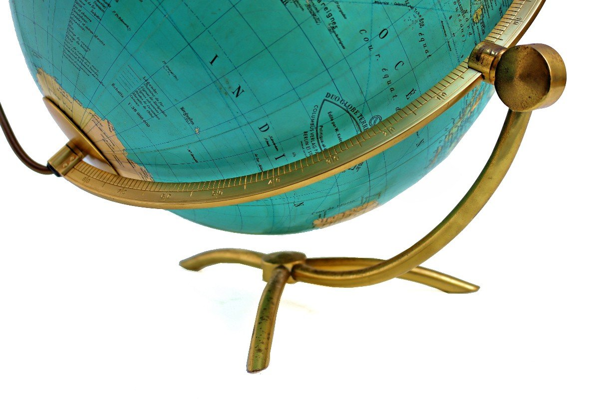 Paul Oestergaard Globe Terrestre Mappemonde En Verre Lumineux-photo-1