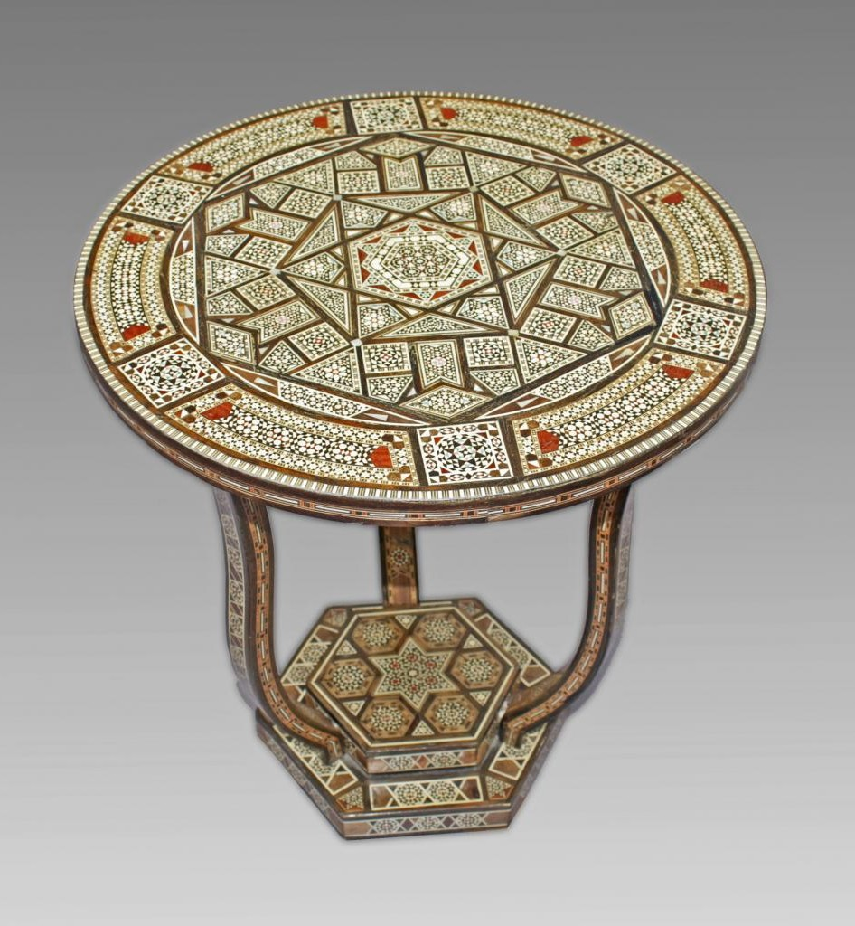 Table Pedestal Syrian Art Deco