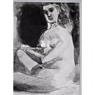 Pablo Picasso Etching Jacomet On Paper Filigree Auvergne