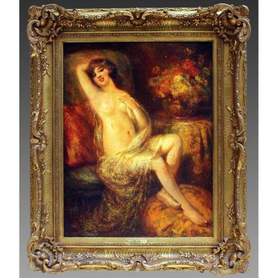 François Maury (1861-1933) Peinture Huile Sur Toile