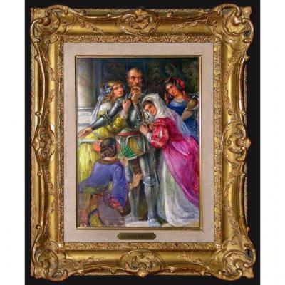 Luc Olivier MERSON (1846-1920) peinture datée 1896