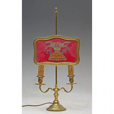 Lampe à écran style Louis XV