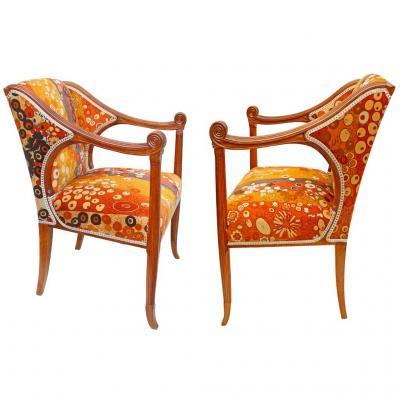 Rapin (1873-1939) Set Of Art Nouveau Chairs