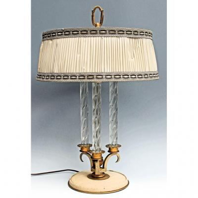 Art Deco Lamp Attributed To Genet & Michon