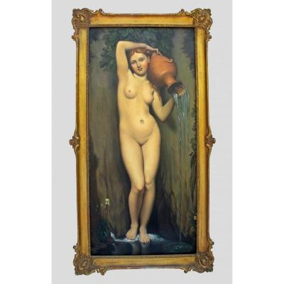Painting Dated 1934 'the Source' After Ingres