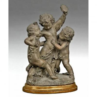 Fernand Cian sculpture XIXe Angelots Musiciens