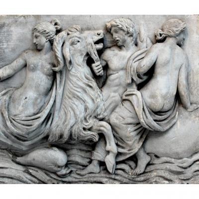 Sculpture XVIIIe Bas-relief In Stone