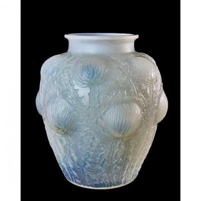 R. Lalique Opalescent Art Deco Vase