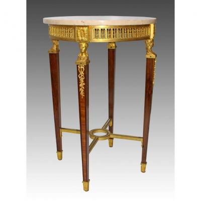 Table St. Louis XVI-directoire Bronze And Marquetry
