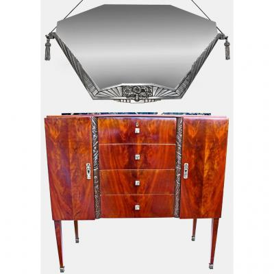 Elegant Art Deco Commode Attributed To Maurice Dufrêne